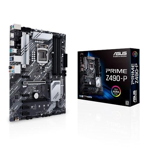Материнские платы ASUS, PRIME Z490-P LGA1200  - купить со скидкой