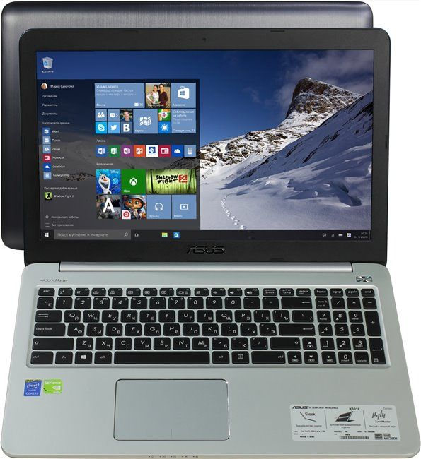 "ASUS K501LB-DM155T (Core i5 5200U / 8 / 1TB+128GB SSD / NO ODD / 15.6"" FHD / Nvidia GT940 2GB/ Backlight KB / Wi-Fi / W10)"