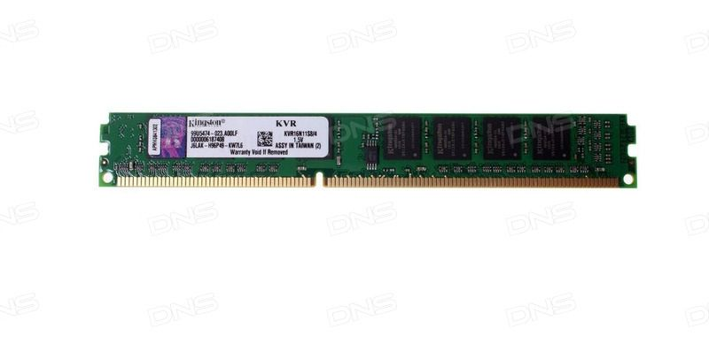 Kingston 4GB PC12800 DDR3 KVR16N11S8/4