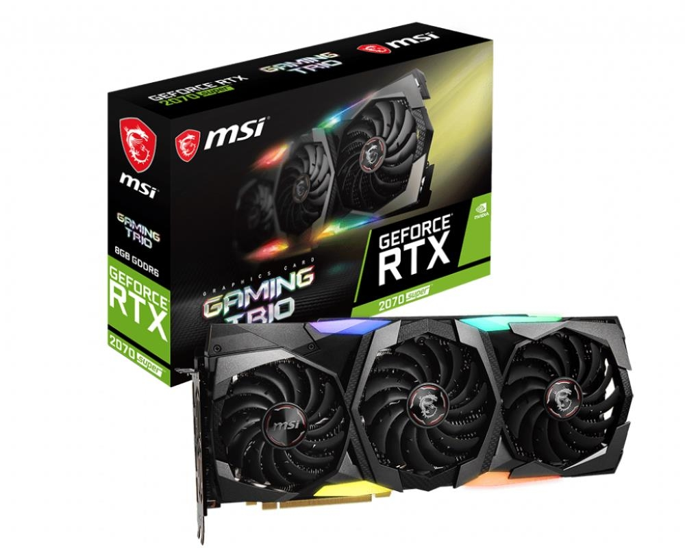 MSI GeForce RTX 2070 SUPER GAMING TRIO 1770MHz PCI-E 3.0 8192MB 14000MHz 256bit HDMI DisplayPort 1.4 *3 RTX2070SUPERGAMTRIO