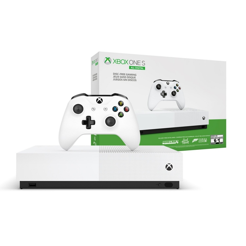 Microsoft Xbox One S 1Tb All-Digital Edition Minecraft, Sea of Thieves, Forza Horizon 3