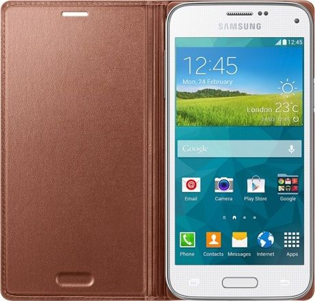 Samsung Чехол-книжка Flip Cover для Samsung Galaxy S5 mini G800F