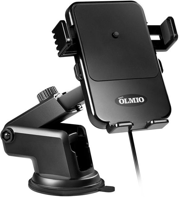 Купить OLMIO Автомобильный держатель с беспроводной зарядкой QI, 10W в интернет магазине. Цены, фото, описания, характеристики, отзывы, обзоры