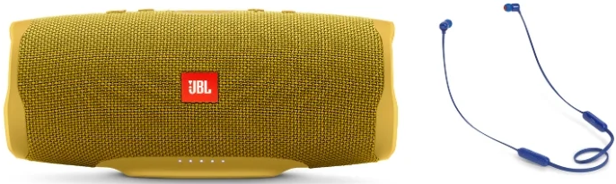 Портативная колонка Charge 4 + наушники T110BT (yellow) фото