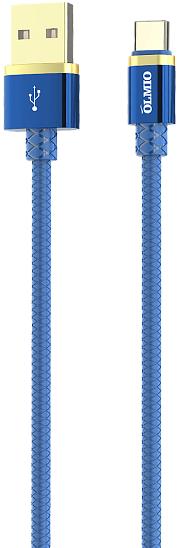 Кабель DELUXE USB-USB Type-C, 2.1A (blue) фото