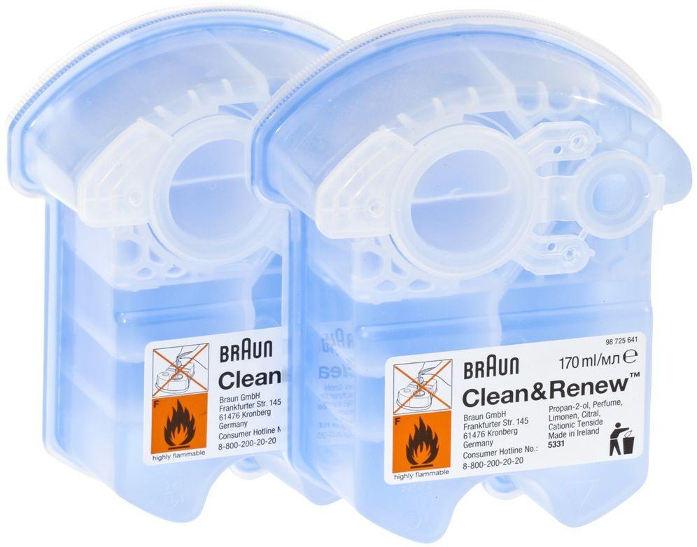 Картридж для бритв Braun с чистящей жидкостью CCR2 (2 шт) фото