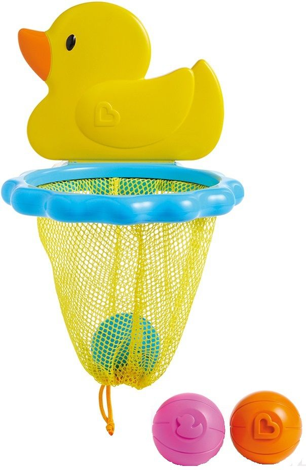 Купить Игрушка для ванной Баскетбол. Утка , Принадлежности для купания малыша Munchkin, Аксессуары для ванной