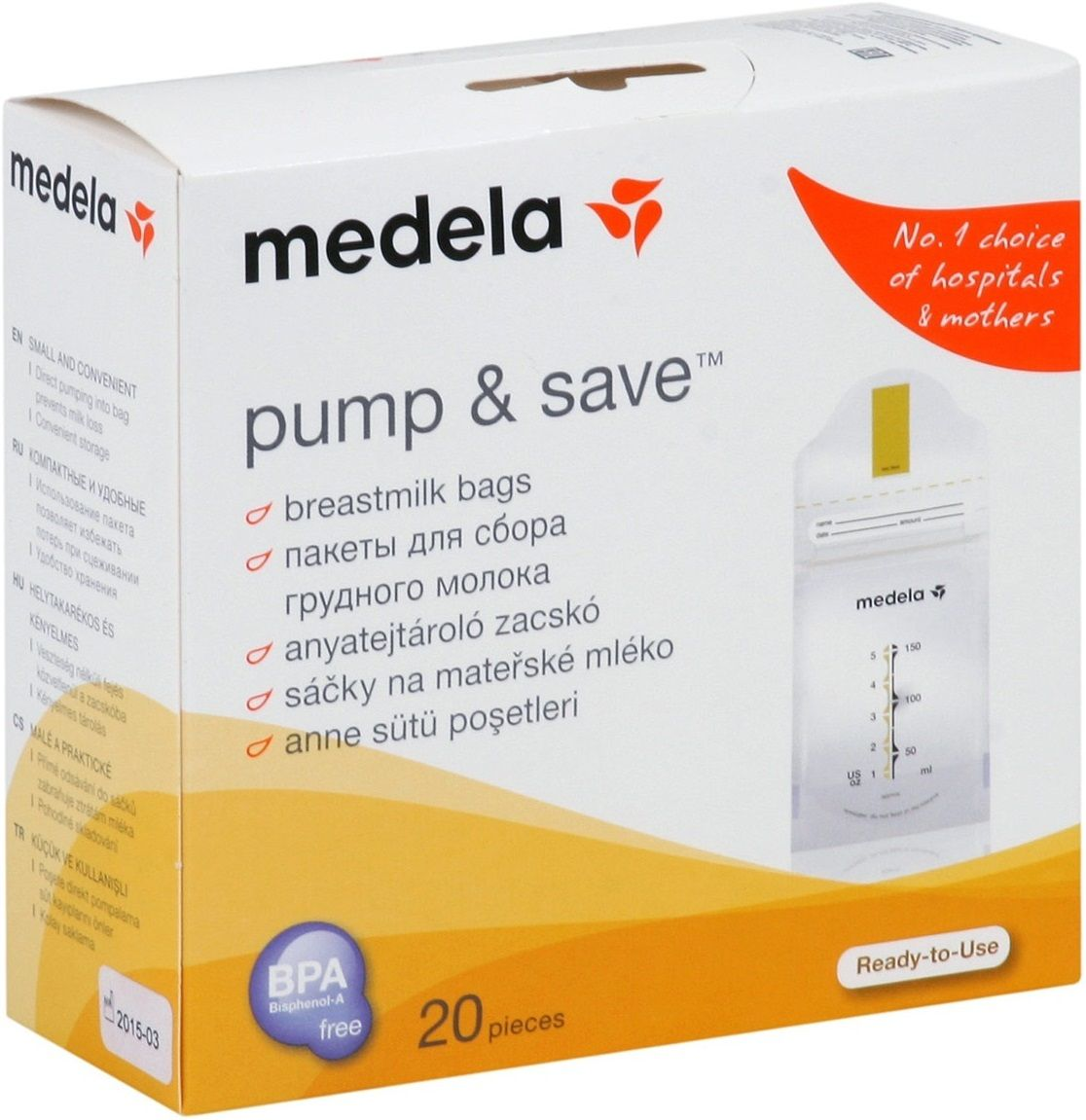"Medela Пакеты ""Pump and Save"" 150 мл"