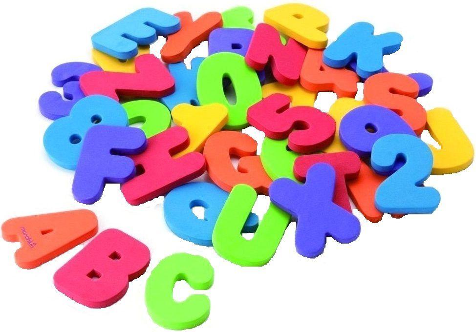 Купить Игрушка для ванной Буквы и Цифры , Принадлежности для купания малыша Munchkin, Аксессуары для ванной