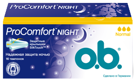 O.B. Тампоны ProComfort Night Normal 16 шт