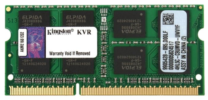 Kingston 8GB PC12800 DDR3 SO KVR16S11/8