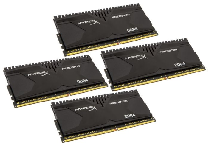 Kingston 16GB PC19200 DDR4 KIT4 HX424C12PB2K4/16