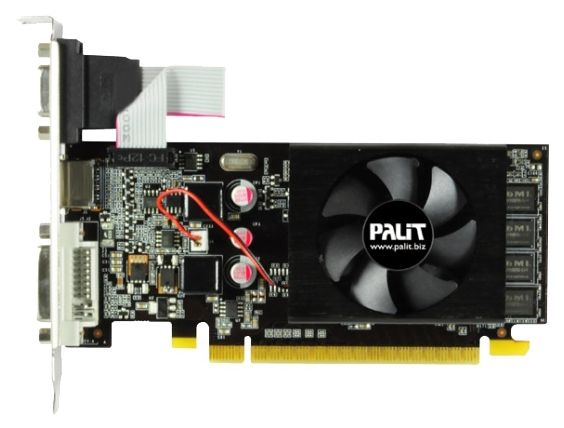 Palit GeForce GT 610 810Mhz PCI-E 2.0 2048Mb 1070Mhz 64 bit DVI HDMI HDCP Cool2 NEAT6100HD46-1196FBULK