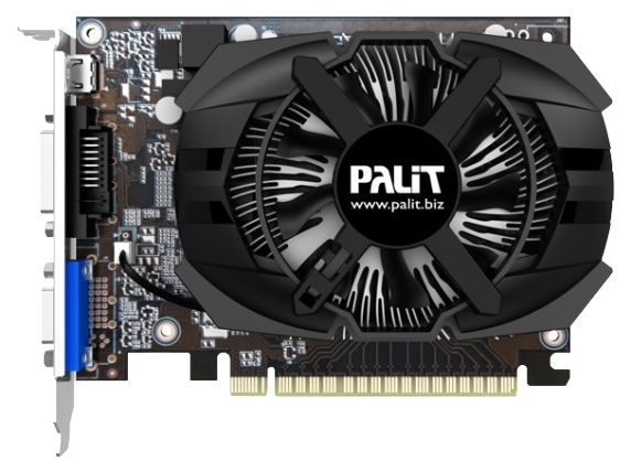 Palit GeForce GT 740 1058Mhz PCI-E 3.0 2048Mb 2500Mhz 128 bit DVI Mini-HDMI HDCP