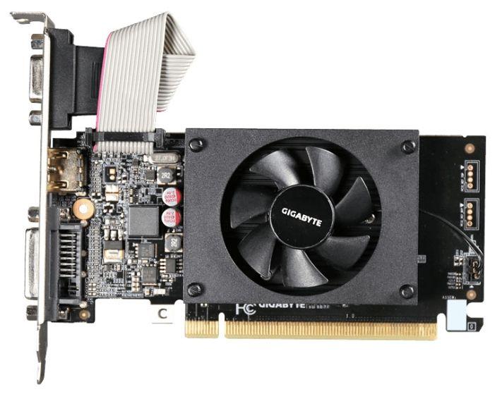 Купить видеокарта GigaByte GeForce GT 710 954Mhz PCI-E 2.0 1024Mb 1800Mhz 64 bit DVI HDMI HDCP GV-N710D3-1GL в интернет магазине. Цены, фото, описания, характеристики, отзывы, обзоры