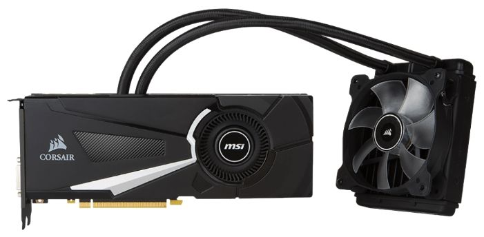 MSI GeForce GTX 1080 1708Mhz PCI-E 3.0 8192Mb 10108Mhz 256 bit DVI HDMI HDCP SEA HAWK X GTX1080SEAHAWKX