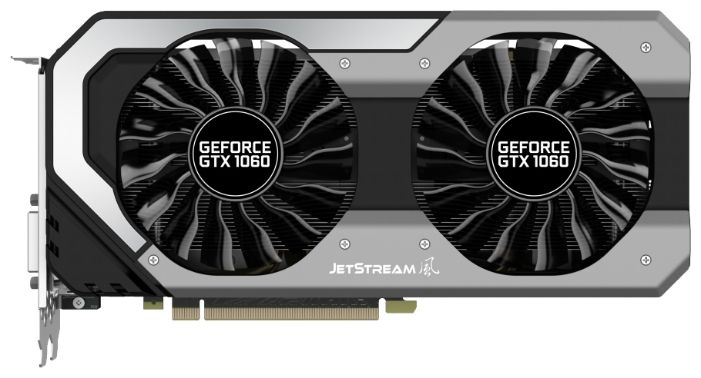 Palit GeForce GTX 1060 1506Mhz PCI-E 3.0 6144Mb 8008Mhz 192 bit DVI HDMI HDCP JetStream NE51060015J9-1060J