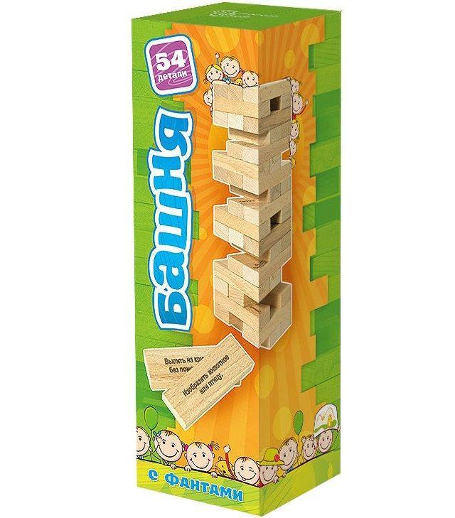 Купить Настольная игра Башня , с заданиями для детей (Дженга с фантами), Настольные игры для детей Нескучные игры, Развлекательные игры
