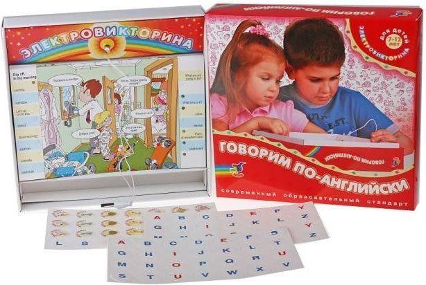 Купить Электровикторина Говорим по-английски , Обучающие материалы и авторские методики для детей Дрофа, Обучающие игры
