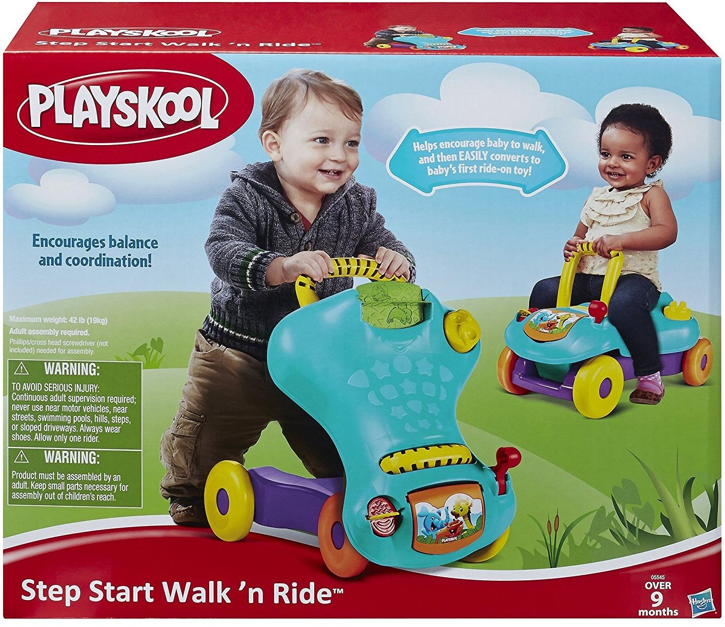 "Hasbro Каталка-ходунки Playskool 2-в-1 ""Ходи и катайся"""