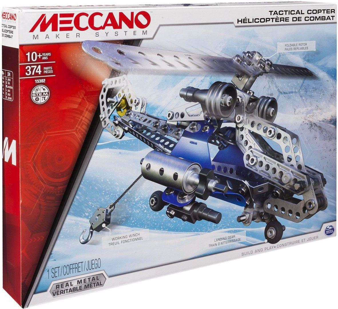 """Купить Конструктор """"Боевой вертолет 2 в 1"""" 374 детали <span class=""""brend-last-pos"""">Meccano</span> в интернет магазине. Цены, фото, описания, характеристики, отзывы, обзоры"""