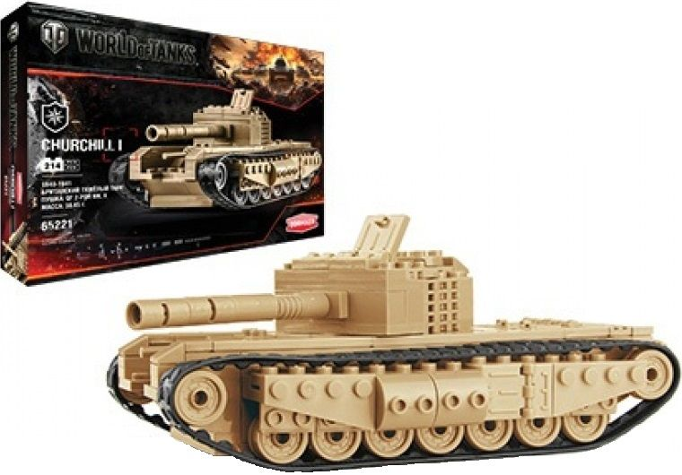 "Zormaer Конструктор ""World of Tanks. Churchill I"" 214 деталей"