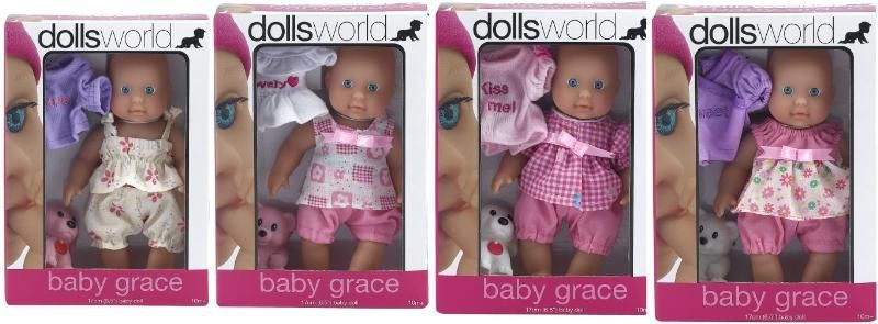 "Dolls World  Пупс ""Грейс"" 17 см"