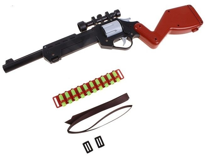 Купить Винтовка с оптическим прицелом (brown), Игрушечное оружие и бластеры ПК Форма , Пистолеты, автоматы и бластеры