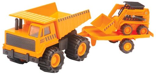 Купить Набор строительной техники Карьерный грузовик + минипогрузчик Бобкэт (18 см), Игрушечные машинки и техника Soma, Наборы машинок