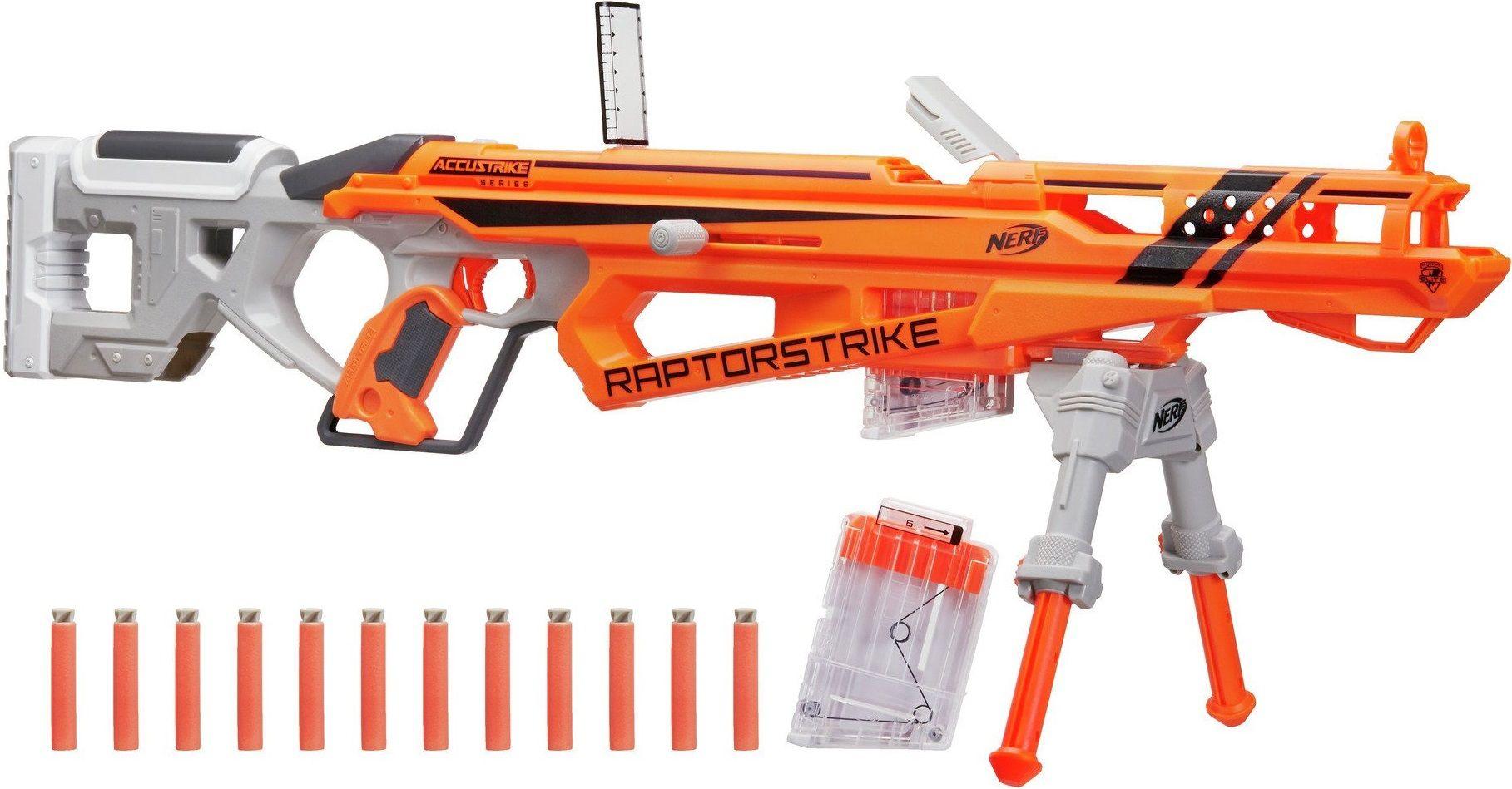 Купить Бластер Nerf Accustrike Raptorstrike (Нёрф Аккустрайк Рапторстрайк), Игрушечное оружие и бластеры Hasbro, Пистолеты, автоматы и бластеры