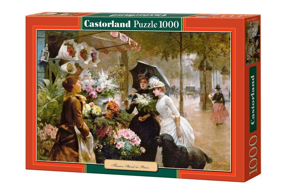 """Купить Пазл """"Цветочный стенд в Париже"""" <span class=""""brend-last-pos"""">Castorland</span> в интернет магазине. Цены, фото, описания, характеристики, отзывы, обзоры"""