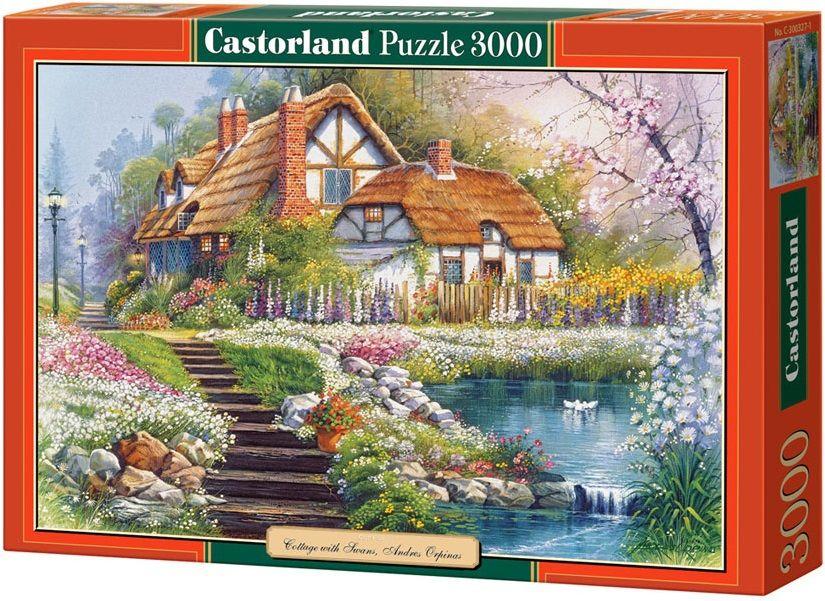 """Купить Castorland Пазл """"Коттедж с лебедями"""" в интернет магазине. Цены, фото, описания, характеристики, отзывы, обзоры"""