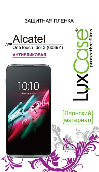 LuxCase Защитная пленка для Alcatel One Touch Idol 3 (4.7) 6039Y (антибликовая)