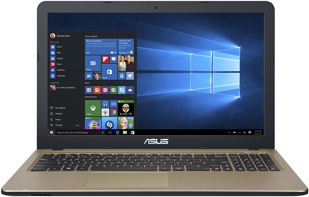 "ASUS X540SA-XX012D (Intel Celeron Т3050/15.6""/2.0Gb/500Gb/DVD нет/Intel HD Graphics 520/Wi-Fi/Bluetooth/DOS) 90NB0B31-M03510"