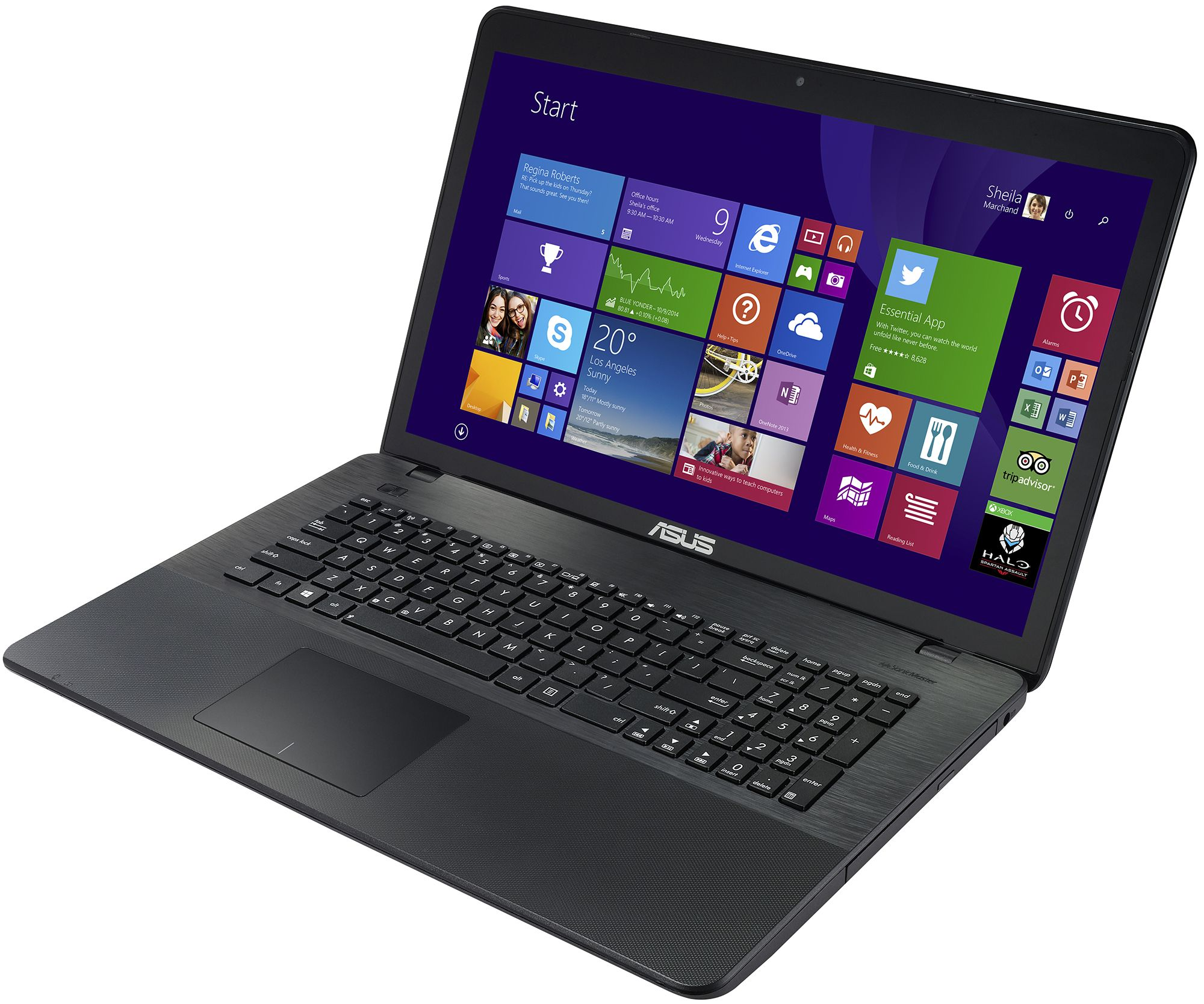 "ASUS X751SA-TY006D (Intel Pentium N3700 1600 MHz/17.3""/1600x900/4.0Gb/500Gb/DVD-RW/Intel GMA HD/Wi-Fi/Bluetooth/DOS)"