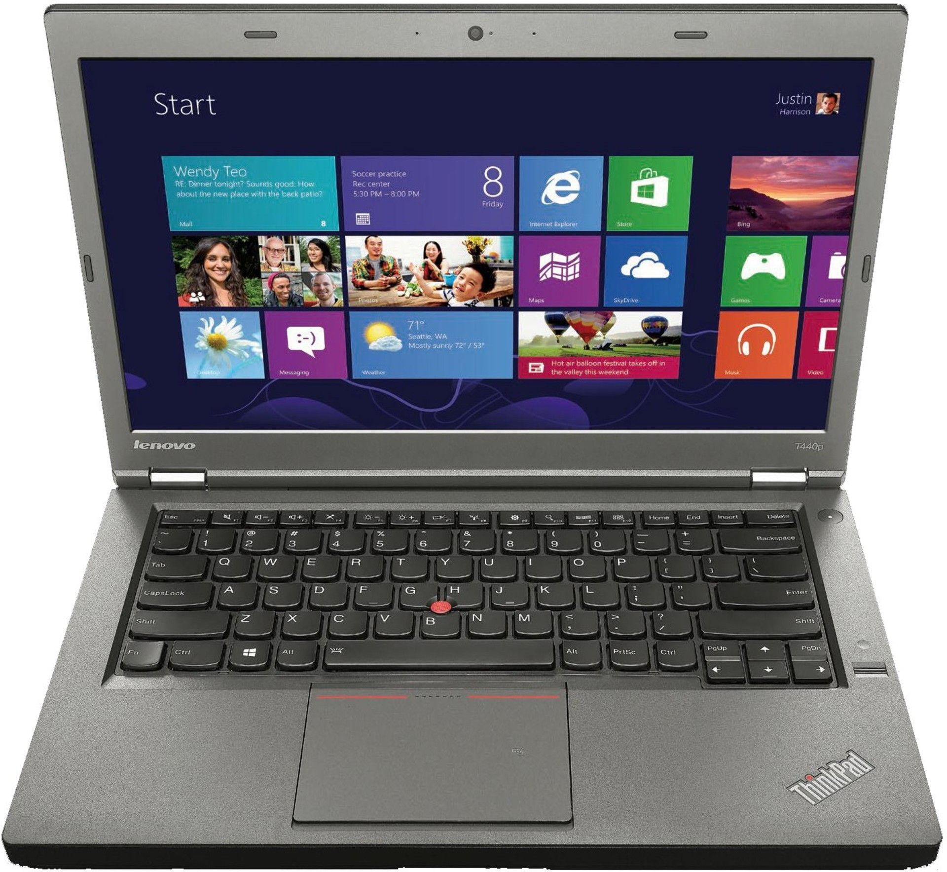 "Lenovo THINKPAD T440 (Core i5 4210U 1700 Mhz/14.0""/1600x900/8.0Gb/128Gb SSD/DVD нет/Intel HD Graphics 4400/Wi-Fi/Bluetooth/Win 7 Prof)"