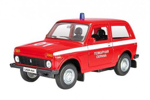 """Купить Модель """"Лада 4х4"""" пожарная охрана (6180) <span class=""""brend-last-pos"""">Autotime</span> в интернет магазине. Цены, фото, описания, характеристики, отзывы, обзоры"""