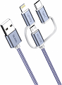 OLMIO Кабель 3-в-1 USB - microUSB/ 8pin/ Type-C, 2.1A