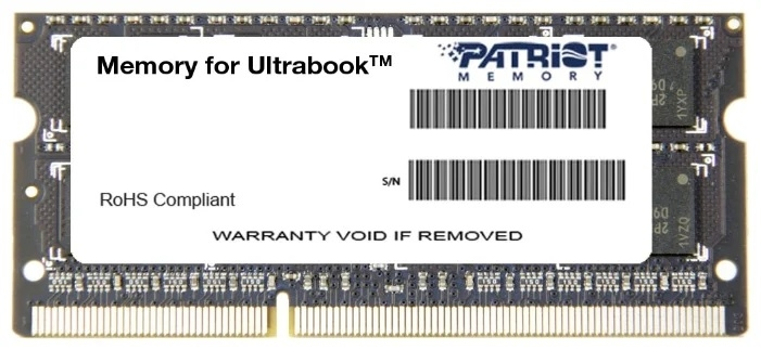 Модуль памяти PATRIOT 8GB PC12800 DDR3L SO-DIMM 1600MHZ PSD38G1600L2S